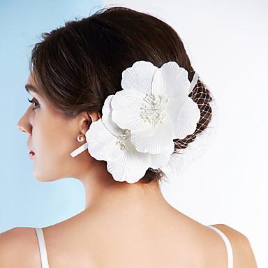 Σατέν Δίχτυ Γοητευτικά Λουλούδια 1 Γάμου Ειδική Περίσταση Headpiece