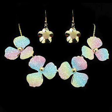 Mulheres Outros Conjunto de jóias Brincos / Colares - Regular Arco-Íris Para Casamento / Festa / Ocasião Especial