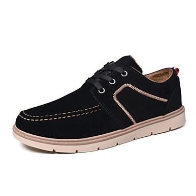 Herrn Schuhe Wildleder Herbst Winter Komfort Sneakers Schnürsenkel für Normal Draussen Schwarz Dunkelblau Rot