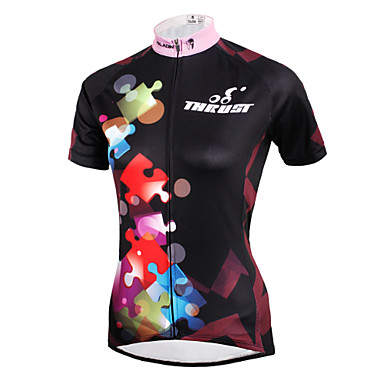 ILPALADINO Cycling Jersey Women's Short Sleeves Bike Jersey Top Bike Wear Quick Dry Ultraviolet Resistant Breathable Compression