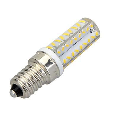 E14 LED Mısır Işıklar T 64 led SMD 3014 Dekorotif Sıcak Beyaz Serin Beyaz 400-500lm 3500/6500K AC 220-240V