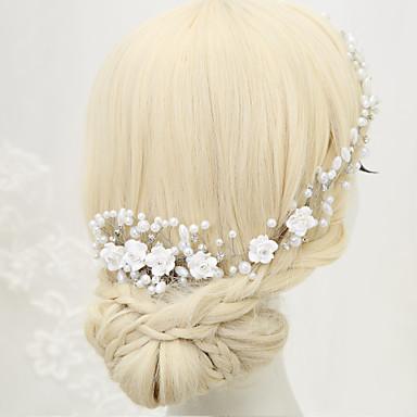 Imitation Pearl Rhinestone Alloy Hair Combs 1 Wedding Special Occasion Headpiece