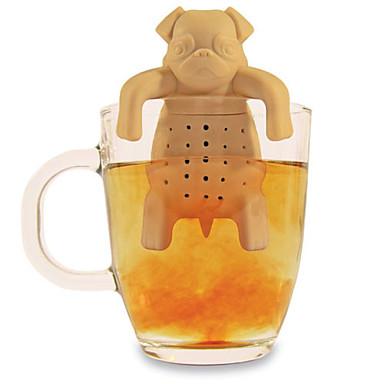 kupa demlik bitkisel baharat süzgeç filtre silikon çay kahve demlik sevimli boksör (rastgele renk)