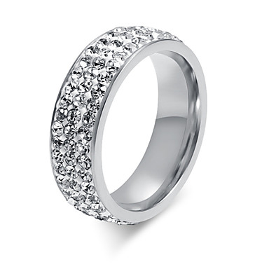 Women's Titanium Steel Band Ring - Fashion For Wedding Party Daily Casual