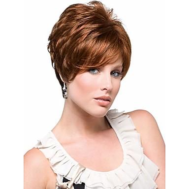 Sentetik Peruklar Dalgalı Kadın's Bonesiz Karnaval Peruk Cadılar Bayramı Peruk Şort Sentetik Saç