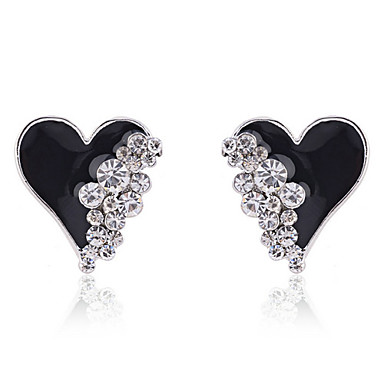 Women's Stud Earrings Love Heart Fashion Crystal Gold Plated Imitation Diamond Heart Jewelry Party Daily Casual Costume Jewelry