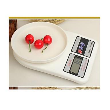 1 készlet basekey új 7-10kg digitális konyhai étrend elektronikus súly mérleg mini méretű random stílusban