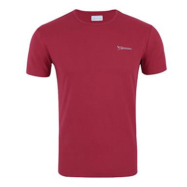 Miesten Juoksupaita Hengittävä Rajoittaa bakteereja Hikeä siirtävä T-paita Topit varten Kuntoilu Kilpailu Juoksu Polyesteri Ohut Punainen
