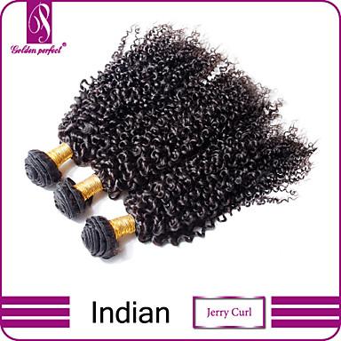 Człowieka splotów włosów Włosy indyjskie perwersyjne 3 elementy sploty włosów