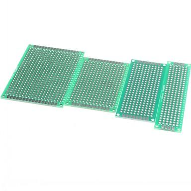 4 stk 5x7 4x6 3x7 2x8 cm dobbel side kobber prototype pcb universell bord for Arduino