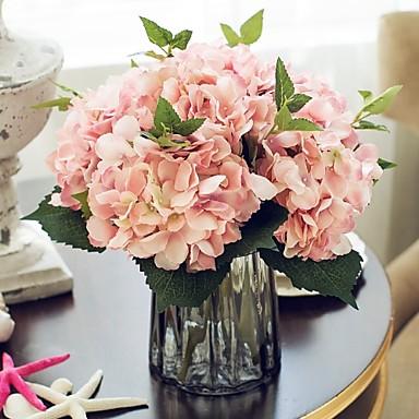 Flores artificiais 1 Ramo Estilo Europeu Hortênsia Flor de Mesa