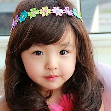 Korea boutique lasten korut värikkäitä kukkia hiukset bändi 2