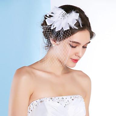 billige Hårsmykker-Tyll fascinators med 1 Bryllup / Spesiell Leilighet Hodeplagg
