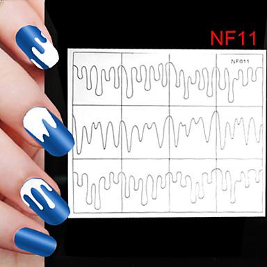 5x24pcs tamanhos diferentes tomada profissional ferramenta padrão nail art