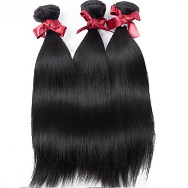 Hiukset kutoo Malesialainen Straight 12 kuukautta 3 osainen hiukset kutoo