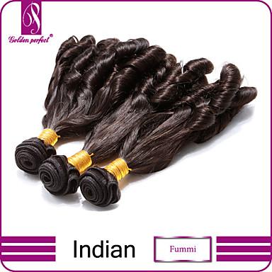 Υφάνσεις ανθρώπινα μαλλιών Ινδική Χαλαρό Κυματιστό 3 Κομμάτια υφαίνει τα μαλλιά