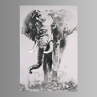 impressão de lona de arte de parede de elefante pronto para pendurar decoração de casa