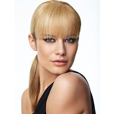Synthetic Wig Straight With Bangs Synthetic Hair Blonde Wig Women's Capless