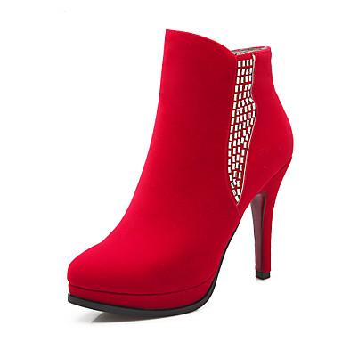 Femme Chaussures Laine synthétique Similicuir Automne Hiver Talon Aiguille Bottine/Demi Botte Paillette Fermeture Pour Habillé Soirée &