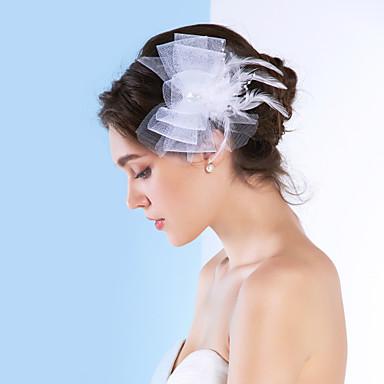 billige Hodeplagg til fest-Dame Tyll Headpiece-Bryllup / Spesiell Leilighet fascinators