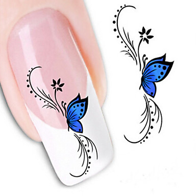 1 Water Transfer Sticker Nail Jewelry 3D Nail Stickers Fashion Lovely Punk Daily High Quality