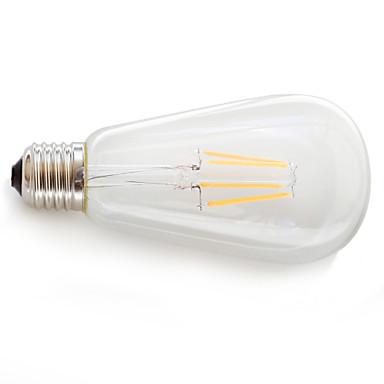 E26/E27 LED Filament Bulbs 4 COB 360 lm Warm White K Decorative AC 85-265 V