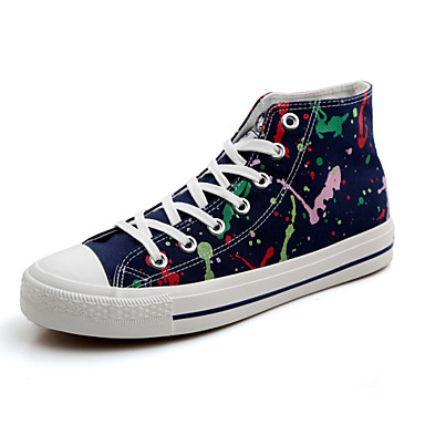 Men's Lover Shoes Fashion Sneakers Canvas Shoes Black / Red / Navy