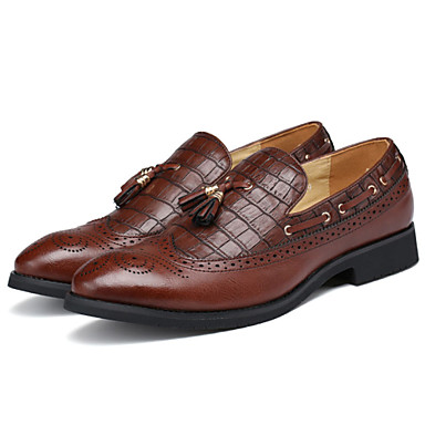 Erkek Ayakkabı Yapay Deri Bahar Yaz Sonbahar Kış Rahat Biçimsel Ayakkabı Mokasen & Bağcıksız Ayakkabılar Uyumluluk Günlük Parti ve Gece
