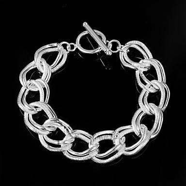 billige Motearmbånd-Dame Kjeder & Lenkearmbånd Unikt design Mote Sølv Armbånd Smykker Sølv Til Bryllup Fest Daglig Avslappet