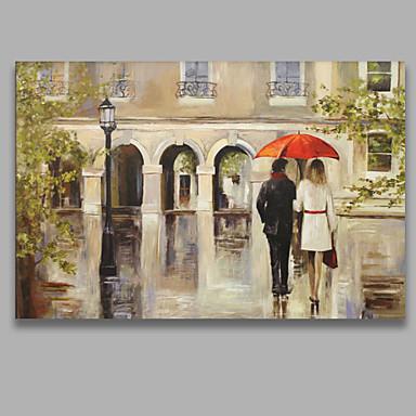Pintados à mão Pessoas Horizontal,Modern 1 Painel Tela Pintura a Óleo For Decoração para casa