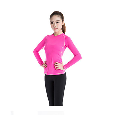 Women's Running T-Shirt Long Sleeves Quick Dry Moisture Permeability Breathable Sweat-wicking T-shirt Top for Yoga Exercise & Fitness