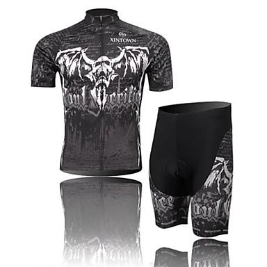 Camisa com Shorts para Ciclismo Homens Manga Curta MotoRespirável / Resistente Raios Ultravioleta / Permeável á Humidade / Compressão /