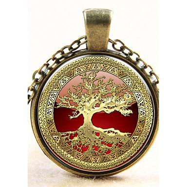 levne Dámské šperky-Přívěšky Módní Stříbro Měď Stříbrná Bronzová Náhrdelníky Šperky Pro Svatební Párty Denní Ležérní
