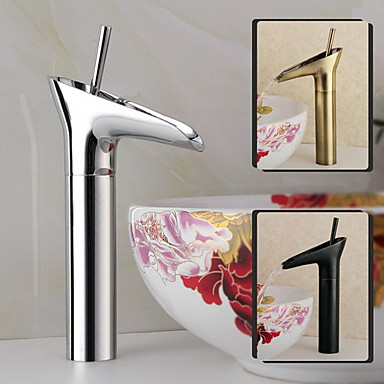 Traditionnel Diffusion large Jet pluie Soupape céramique 1 trou Mitigeur un trou Bronze huilé, Robinet lavabo