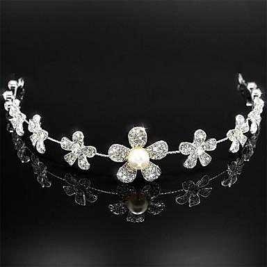 Femei Perle Ștras Oțel inoxidabil Diadema-Nuntă Lănțișor de cap