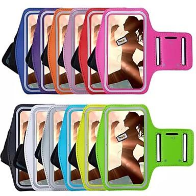Pouzdro Uyumluluk iPhone 6s Plus iPhone 6 Plus iPhone 6s iPhone 6 Evrensel Pencereli Omuzbandı Kol Bandı Tek Renk Yumuşak Tekstil için