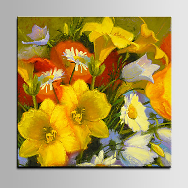 Hand-Painted Still Life Square, Pastoral Canvas Oil Painting Home Decoration One Panel