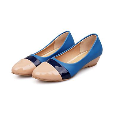 Hegyes orrú / Csukott orrú - Parafa - Női cipő - Balerinek - Irodai / Ruha / Alkalmi - Bőrutánzat - Sárga / Piros / Mandula