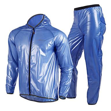 Nuckily Femme Unisexe Veste avec Pantalon de Vélo Cyclisme Vélo Veste Veste Coupe Vent Imperméable Coupe Vent Respirable Séchage rapide Des sports Couleur Pleine Vacances Classique Polyester Hiver