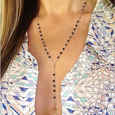 y típusú kézzel gyöngyös bokrok kereszt nyaklánc klasszikus női stílusban