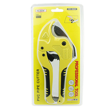 rewin® verktøy dobbel sperre PVC cutter med gummi håndtak 65 # mangan stål 42mm