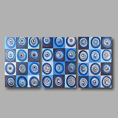 El-Boyalı Soyut Yatay, Modern Tuval Hang-Boyalı Yağlıboya Resim Ev dekorasyonu Üç Panelli
