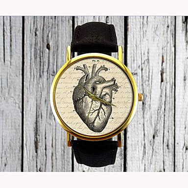 Women's Quartz Wrist Watch PU Band Heart shape / Fashion