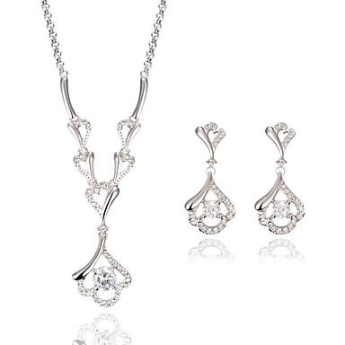 女性用 ジュエリーセット - イミテーションダイヤモンド ぜいたく, ファッション 含める ゴールド / ホワイト 用途 結婚式 / パーティー / 日常