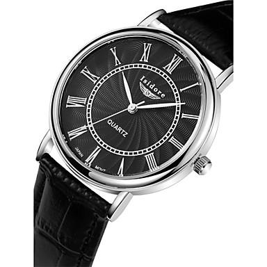 Homens Quartzo Relógio de Pulso Impermeável Couro Banda Amuleto Preta Marrom