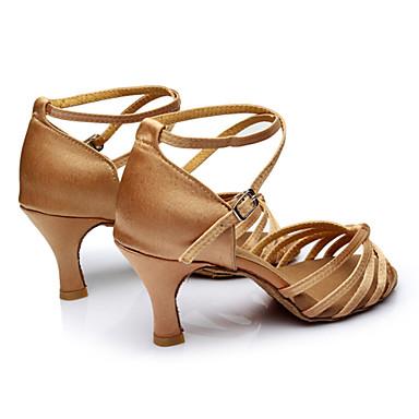 abordables Meilleures Ventes-Femme Chaussures de danse Satin / Similicuir Chaussures Latines Boucle Sandale Talon Personnalisé Personnalisables Noir / Rouge / Léopard / Chair / Intérieur / Cuir / EU40
