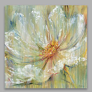 Hang malte oljemaleri Håndmalte - Still Life Moderne Lerret / Stretched Canvas