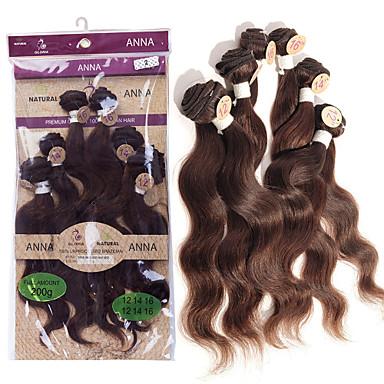 baratos Extensões de Cabelo Natural-Cabelo Brasileiro Onda de Corpo 8A Cabelo Humano Ondulado Tramas de cabelo humano Extensões de cabelo humano