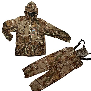 Camouflage Hunting Suit , Camo Jacket Coat With Trousers For Hunting & Fishing(Jacket+Trousers+peaked cap+Neckerchief)