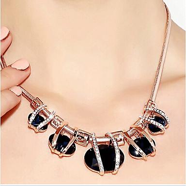 Mulheres Cristal Strands Necklace - Cristal, Strass, Imitações de Diamante Luxo, Fashion Verde, Azul Colar Para Festa, Diário